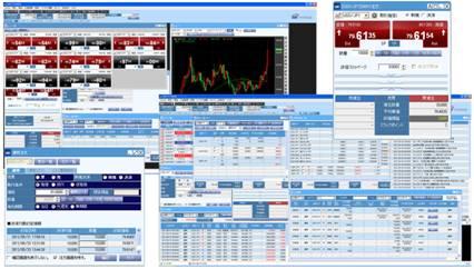 PC用取引ソフトの画面の例