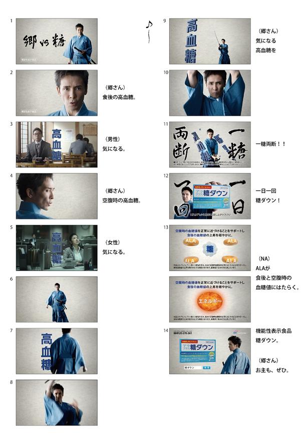 新TV-CM『糖ダウン登場』篇ストーリーボード(30秒)
